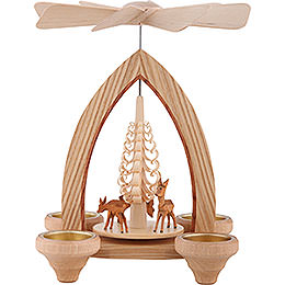 1-Tier Pyramid - Deer - Natural - 26 cm / 10.2 inch