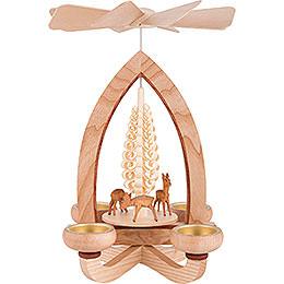 1-Tier Pyramid - Deer - Natural - 28 cm / 11 inch