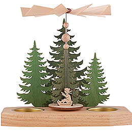 1-Tier Pyramid - Fir Trees - Winter Children - 16,5 cm / 6.5 inch