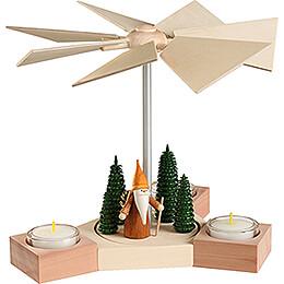 1-Tier Pyramid - Hexagonum Woodsman Gnome - 20 cm / 7.9 inch