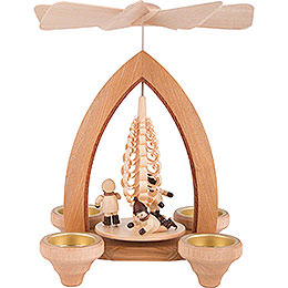 1-Tier Pyramid - Ice Skater - Natural - 26 cm / 10.2 inch