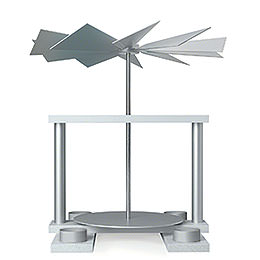 1-Tier Pyramid LUMA without Figurines, White - 32 cm / 12.6 inch