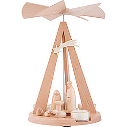 1-Tier Pyramid Mini-Delta Nativity - Natural - 26 cm / 10.2 inch