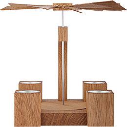 1-Tier Pyramid - Modern Natural Oak Blank - 24 cm / 10 inch