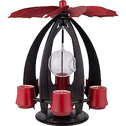 1-Tier Pyramid NOVA - Anthracite/Rubyred - 38 cm / 15 inch