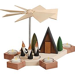 1-Tier Pyramid - Octogonum Mountain Gnome - 23 cm / 9.1 inch