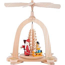 1-Tier Pyramid - Santa - 23 cm / 9 inch