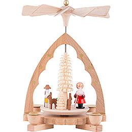 1-Tier Pyramid - Santa Claus - 19 cm / 7 inch