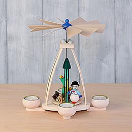 1-Tier Pyramid - Snowman - 25 cm / 9.8 inch