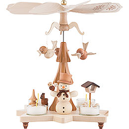 1-Tier Pyramid - Snowman Natural - 27 cm / 11 inch