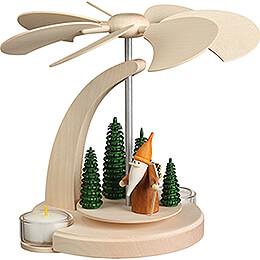 1-Tier Pyramid - Woodsman Gnome - 18 cm / 7.1 inch