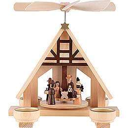 1-stöckige Pyramide Christi Geburt, natur  - 23 cm