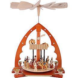 1-stöckige Pyramide Christi Geburt natur - 40 cm