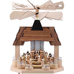 1-stöckige Pyramide Engel mit zwei gegenläufigen Flügelrädern - 41 cm