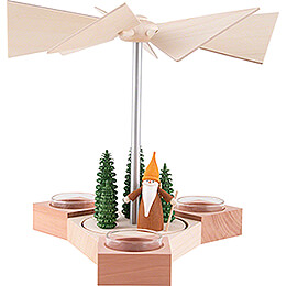 1-stöckige Pyramide Hexagonum Waldarbeiterwichtel - 20 cm