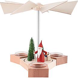 1-stöckige Pyramide Hexagonum Weihnachtswichtel mit Schlitten - 20 cm