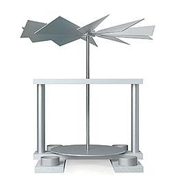 1-stöckige Pyramide LUMA unbestückt, weiß - 32 cm