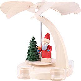 1-stöckige Pyramide Weihnachtsmann mit Schlitten - 18 cm