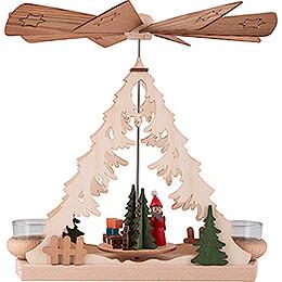 1-stöckige Pyramide mit Weihnachtsmann - 26 cm