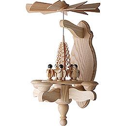 1-stöckige Wandpyramide Engel und Spanbaum - 40x22 cm
