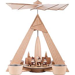 1-stöckige Pyramide Kurrende Seiffen natur - 29 cm