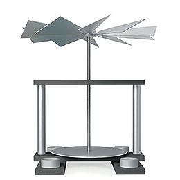 1-stöckige Pyramide LUMA unbestückt, achatsilber - 32 cm