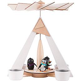 1-stöckige Pyramide Pinguine weiß - 29 cm