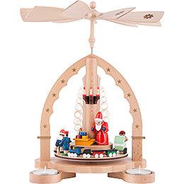 1-stöckige Pyramide Weihnachtsbescherung - 27 cm