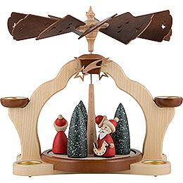 1-stöckige Pyramide Weihnachtsmänner - 31 cm
