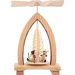 1-stöckige Pyramide Weihnachtsmotiv - natur - 26 cm