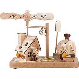 1-stöckige Räucherpyramide Brezelbäckerei - 18 cm