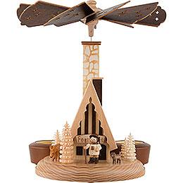 1-stöckige Räucherpyramide Forsthaus - 26 cm