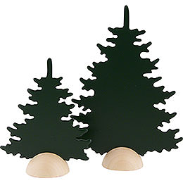 2 Tannen - grün - 20 cm