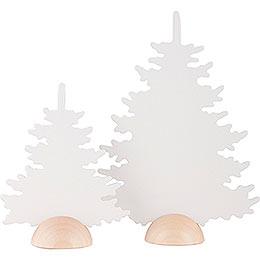 2 Tannen - weiß - 20 cm