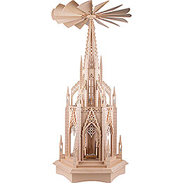 2-Tier Dome Pyramid with Nativity Figurines - 110 cm / 43.3 inch