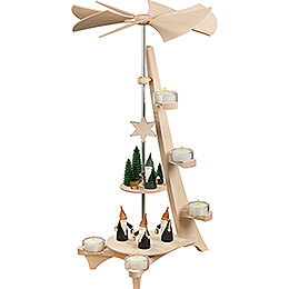 2-Tier Pyramid - L-Shape Mountain Gnome and Hunter Gnome - 50 cm / 19.7 inch