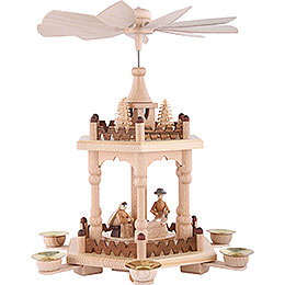 2-Tier Pyramid - Merry Christmas - 29 cm / 11 inch