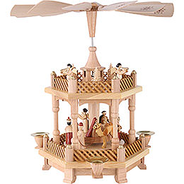 2-Tier Pyramid - Nativity Scene - 33 cm / 13 inch