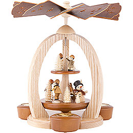 2-Tier Pyramid - Winter Children - 28 cm / 11 inch