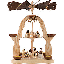 2-Tier Pyramid - Winter Children - 40 cm / 16 inch