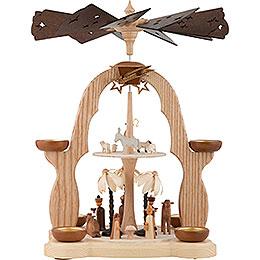 2-stöckige Pyramide Christi Geburt - 40 cm