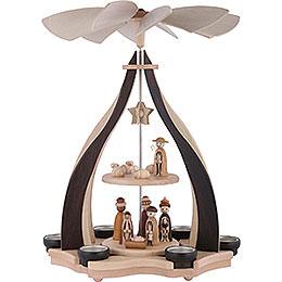 2-stöckige Pyramide Christi Geburt - 47,5 cm