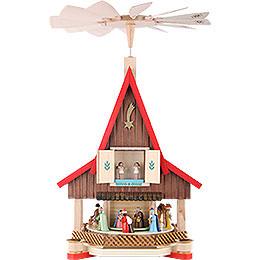 2-stöckiges Adventshaus - Christi Geburt - 53 cm