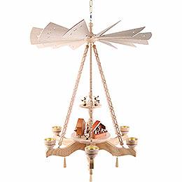 2-stöckige Deckenpyramide Weihnachtsmarkt - 55x85 cm