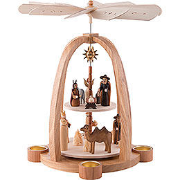 2-stöckige Pyramide Christi Geburt - 41 cm