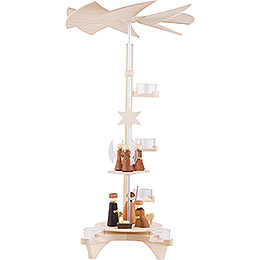 2-stöckige Pyramide L-Form, Christi Geburt und Engel - 50 cm