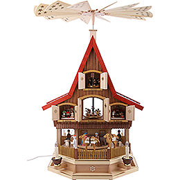 3-Tier Adventhouse - Nativity Scene - 77 cm / 30 inch