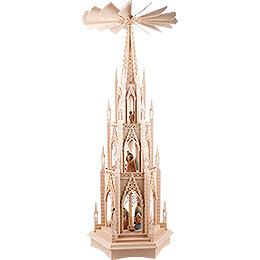 3-Tier Dome Pyramid with Nativity Figurines  - 135 cm / 53.1 inch