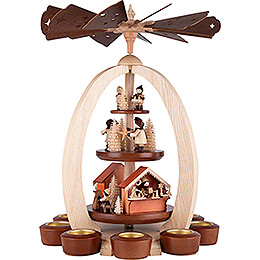 3-Tier Pyramid Christmas Market - Exclusive - 44 cm / 17.3 inch