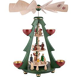3-Tier Pyramid Tree - Nativity - 40 cm / 15.7 inch